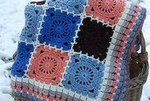 Blankets - crochet squares