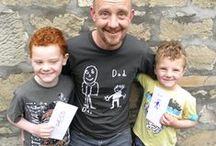 Personalised T-shirts for Dads From the Kids. / Dads can be tricky to get presents for. If you want something fun but practical, thoughtful and inspiring yet completely unique to him a t-shirt printed with one of his child's drawings is guaranteed to inspire smiles from all around. #personalisedgifts #giftsfordads #FathersDay