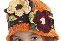 crochet hats and shoes