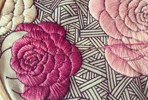 Вышивка, апликация, пано, декор, меняем фактуру ткани / Создаем красоту своими руками / by Lana Vanina