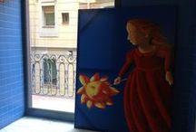 Barceloneta des dels balcons de la biblioteca Barceloneta_La Fraternitat / -