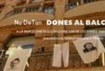 Dones al balcó. Març 2016 / Performance de l'artista Núria Sánchez a la Biblioteca Barceloneta-La Fraternitat. Març del 2016. A la Barceloneta els balcons són de les dones. #Barceloneta