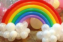 Roscoes Rainbow 1st Bday Party / These are our pins for Roscoe's party, I'm now allocating foods for everyone to make and whatever you would like to have a go at let me know!