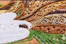BEADWORK KITS / #embroidery #kit #beads #vdvcreative #вдв #beading #printed #fabric #canvas #print_on_fabric