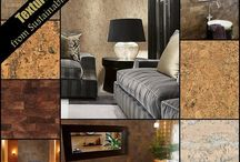 Cork / Cork can be used for flooring and counter tops, along with other creative applications.