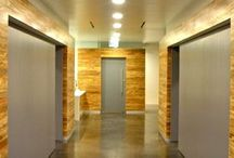 Wall And Millwork / Sustainable wall and millwork is available in cork, reclaimed wood, bamboo, and other post-industrial by products.