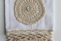 Hand stitch Tea Towels / by pam jennkins