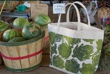 Bags / Dermond Peterson Block Printed Bag Collection