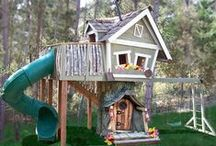 Treehouses and playground ideas / Stuff I wish I could build, and may try to build, but will probably fail to build / by Karen Lancaster