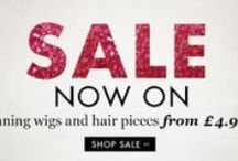 Wonderland Wigs Sales / This board shows you some of the latest bargains on our website as well as sale news, so you can get your hands on our lovely wigs and hair pieces at basement prices :)