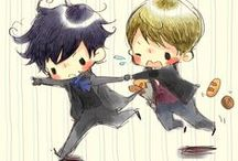Sherlock and Wholock and SUPERWHOLOCK  / It's basically awesome / by Isa~