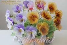 harisnyavirágok :) - nylon flowers