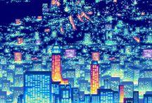 AESTHETIC // Neon sci fi