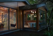 warmth of wood house / Living, house, wood, architecture