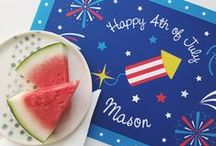 CELEBRATE: the fourth / Red, white, blue, fireworks, and BBQ; we love celebrating our country! AMERICA