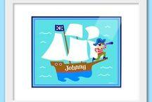 KIDS: framed prints / Personalized Olive Kids brand kids framed prints and framed print sets by Art Appeel!