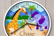 KIDS: clocks / Personalized Olive Kids brand kids clocks by Art Appeel!