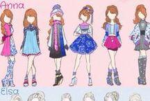 l'arte della moda / a divat művészete ,ruharajzok