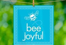 Bee Lines Inspirations / Bee Lines are beautiful prints featuring gentle, upbeat reminders of the qualities that truly matter in life.