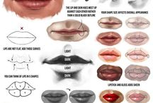 Anatomy Study: Lips / Mouth / Reference material to understand the design of lips for visual art.