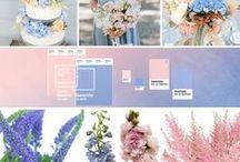 Rose Quartz & Serenity wedding inspiration / Pantone 2016 Colors for your wedding theme