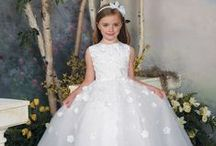 Joan Calabrese / Beautifully crafted flower girl dresses perfect for any type of wedding.