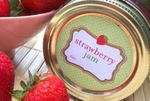 We're Jammin' / Preserving fresh fruits & jam canning recipes. Buy cute jam jar labels on CanningCrafts.com