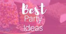 Best Party Ideas on Pinterest / Best Party Ideas on Pinterest for Teens, baby showers, boys or girls birthdays. First year party.  Lot of DIY, outdoor, engagement, boho, Winter, backyard 21st party ideas too!