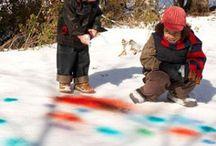 Buiten spelen in de winter