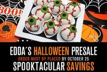 Halloween 2014 Pre Sale / Exclusive offers for a limited time only. Call our stores to place your order or visit our website to download the order form: http://eddascakedesigns.com/halloween-pre-sale/