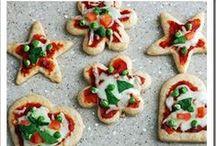 Kerstdiner voor kinderen / Lekkere hapjes met Kerstmis voor kinderen. Thuis of bij het kerstdiner op school.