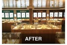 Effy & LeVian Jewelry / Makeover of an Effy & LeVian Jewelry store on board cruise liners Getaway and Breakaway, from Norwegian Cruise Lines, for our client, Starboard Cruise Services. Design by NexusIdeas; production and installation by CreativeCreative & Visual Magnetics.