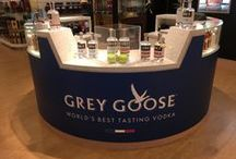 Grey Goose on the NCL Breakaway / Working for our clients, Starboard Cruise Services, we created and installed this store within a store for Grey Goose Vodka on board the Norwegian Cruise Lines ship, the Breakaway.