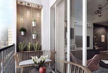 garden / patio / loggia / Ideas for small balcony, loggia and garden.