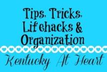 Tips, Tricks, Lifehacks & Organization - Kentucky at Heart / Tips and tricks for everything you can imagine. We love these ideas from other bloggers. Whether it's learning to organize your home or saving time and money we have great tips and tricks for you.