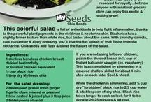 Cool Chia Recipe Ideas / What can you do with chia seeds? The options are as plentiful as the foods & drinks around you. Chia adds healthy nutrients & fiber without changing the taste of the foods you love. Explore the myriad ways you can use chia with this colorful pin board & then buy the best chia seeds at http://www.mychiaseeds.com , to get 2 FREE bonus chia cook books! (They're instant!)