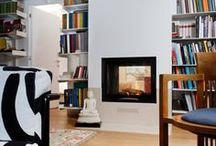 "Fireplaces and bookcases / How to build a bookcase surrounding an ""hot"" heart"