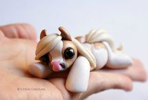 Polymer clay Horses