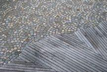 Kiveysideoita / Yhdistelemällä eri materiaaleja  ja muotoja voidaan luoda  mielenkiintoisia pintoja.