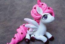 Clay Pegasus and Unicorns