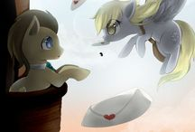 Doctor and Derpy Whooves / Derpy is totally adorable and cute I seriously love her!