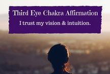 Third Eye Chakra / Third Eye Chakra healing with affirmations, quotes, foods, essential oils, etc. . .