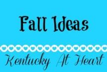 Fall Ideas -- Kentucky At Heart Blog / Fall decor & ideas by Kentucky at Heart