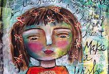 Art Journaling - Jessica Sporn / #ArtJournal #SmashBook #Scrapbook #LifeProject #sketchbook #layout #MixMedia / by Monica Osorio