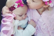 Halley and Lia / Baby/kid stuff / by Amanda Chick
