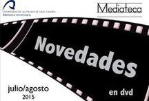 Mediateca. Últimas adquisiciones / Últimas adquisiciones de material audiovisual realizadas por la Biblioteca Universitaria