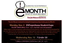 What is eMonth? / JMI invites all  students to participate in entrepreneurship month. Designed to foster a culture of entrepreneurship across campus, eMonth celebrates FSU's entrepreneurial spirit and provides an introduction to the world of entrepreneurship. eMonth includes our kick-off event, ENTreprelooza, our mid-month event, 7 Under 30, and cumulative event, Progressive Luncheon!