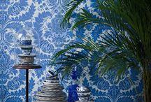 Bedroom colour board - BLUE / Colour decor - BLUE Bedroom decor