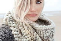 Chunky scarf look / Scarf looks