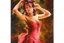 ANDREV ATROSHENKO  ART / Is there anything more beautiful than a woman in the dance ?